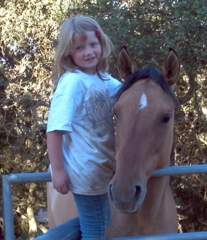 Kiger Mustang and Little girl