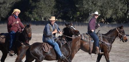men on fine horses